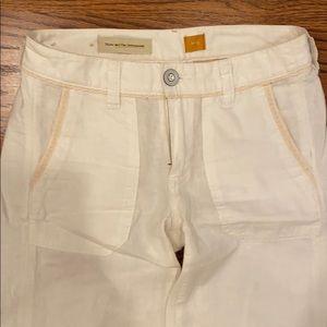 Pilcro and the Letterpress size 0 linen pants